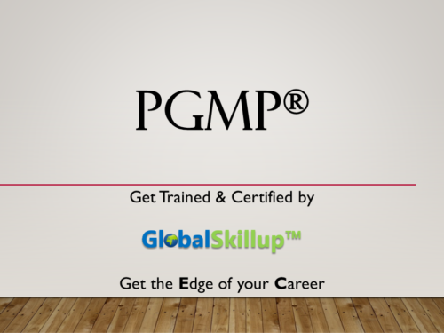PGMP Training and Certification